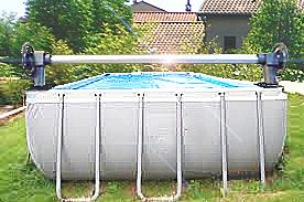 enrouleur hors sol piscine
