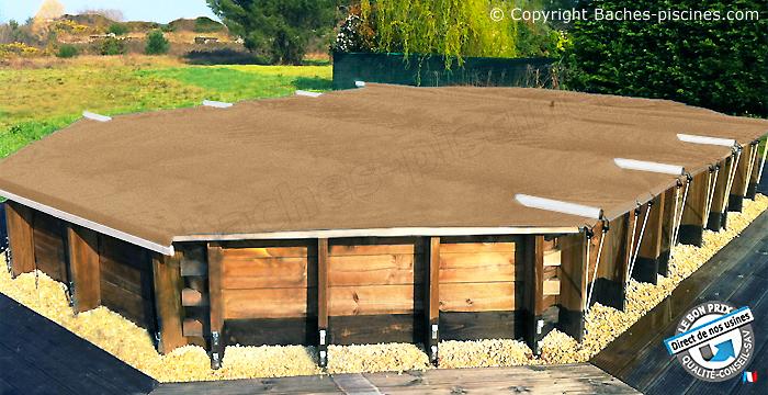 Couverture securité bache piscine hors sol