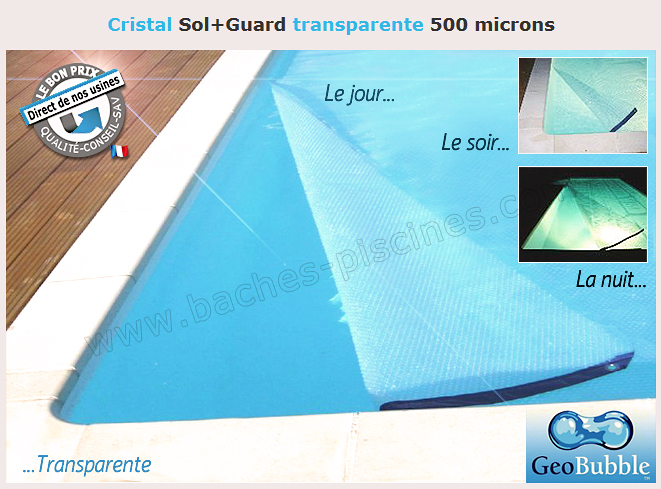 Bâche été piscine Geobubble sol+guard