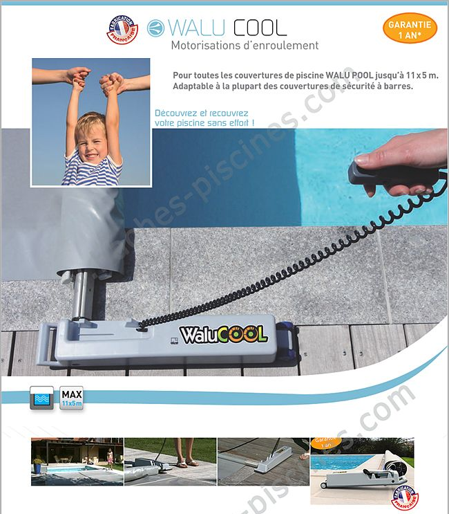 Enroulement motoris walu cool pour b che barres for Bache a barre piscine motorise