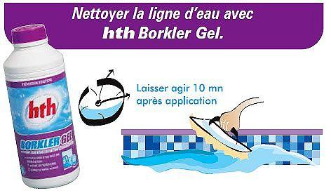 Nettoyant ligne d'eau Borkler gel