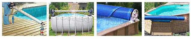 Enrouleur bâche à bulle piscine hors sol