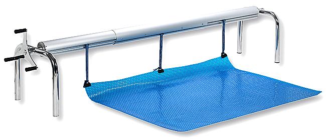 Enrouleur grande piscine largeur b che 6 baches for Grande bache pour bassin