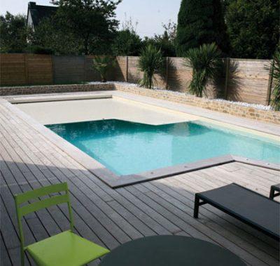 Couverture piscine chauffante innovante