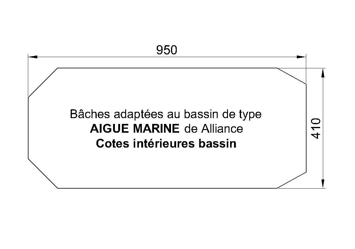BACHE PISCINE alliance AIGUE-MARINE