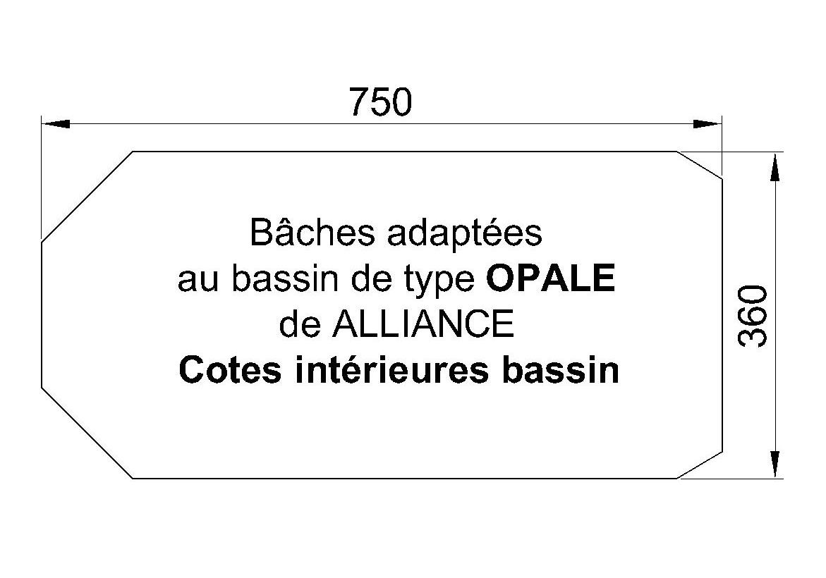 BACHE PISCINE Opale ALLIANCE PISCINES