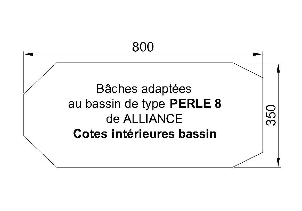 BACHE POUR PISCINE Perle 8 ALLIANCE PISCINES