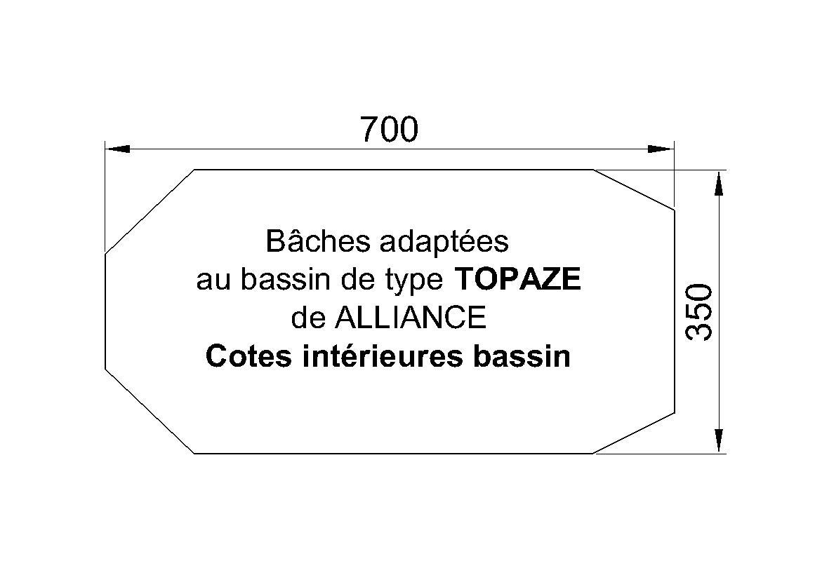 BACHE PISCINE alliance Topaze