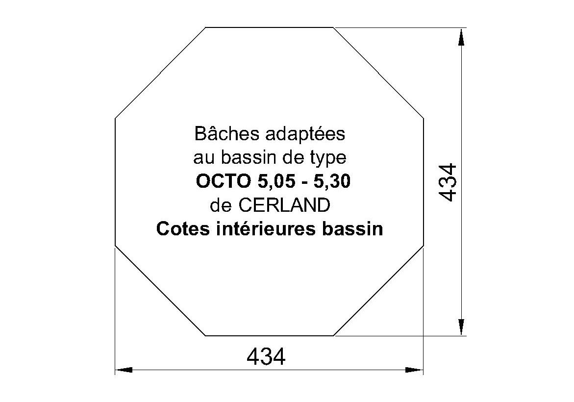 BACHE PISCINE HORS SOL Octo 505 ou 530