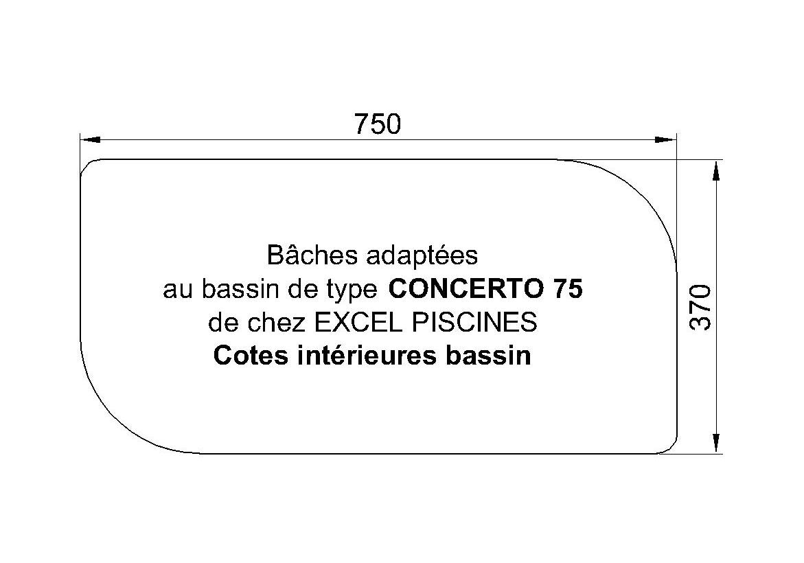 BACHE POUR Concerto 75 PISCINE Excel