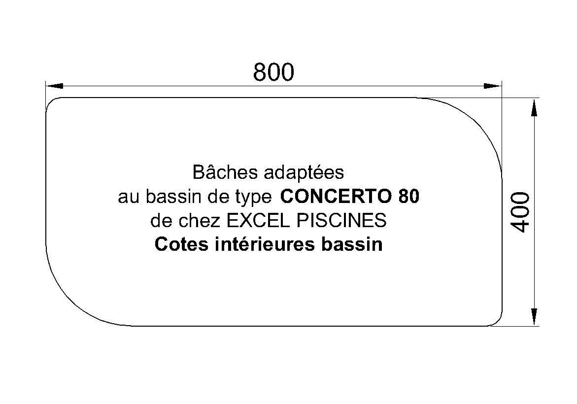 BACHE POUR PISCINE Excel Concerto 80