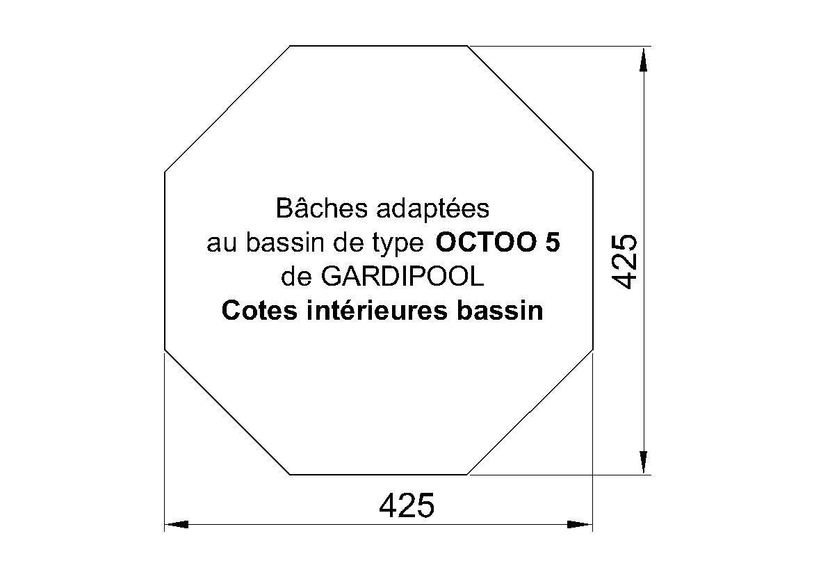 BACHE PISCINE HORS SOL Octoo 5 Gardipool