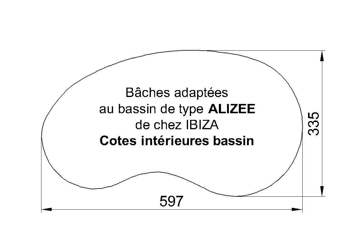 BACHE POUR PISCINE IBIZA ALIZEE