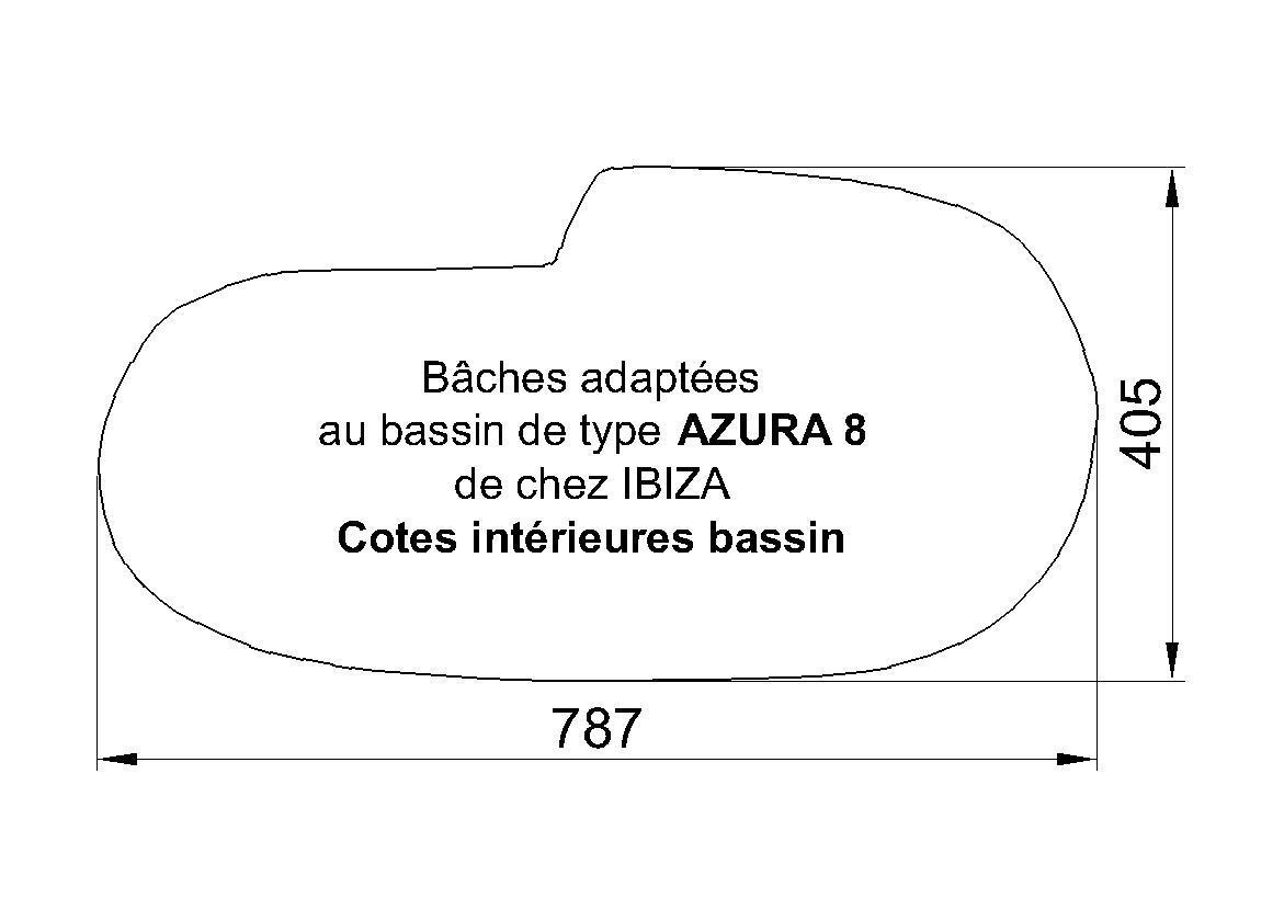 BACHE POUR PISCINE IBIZA AZURA 8