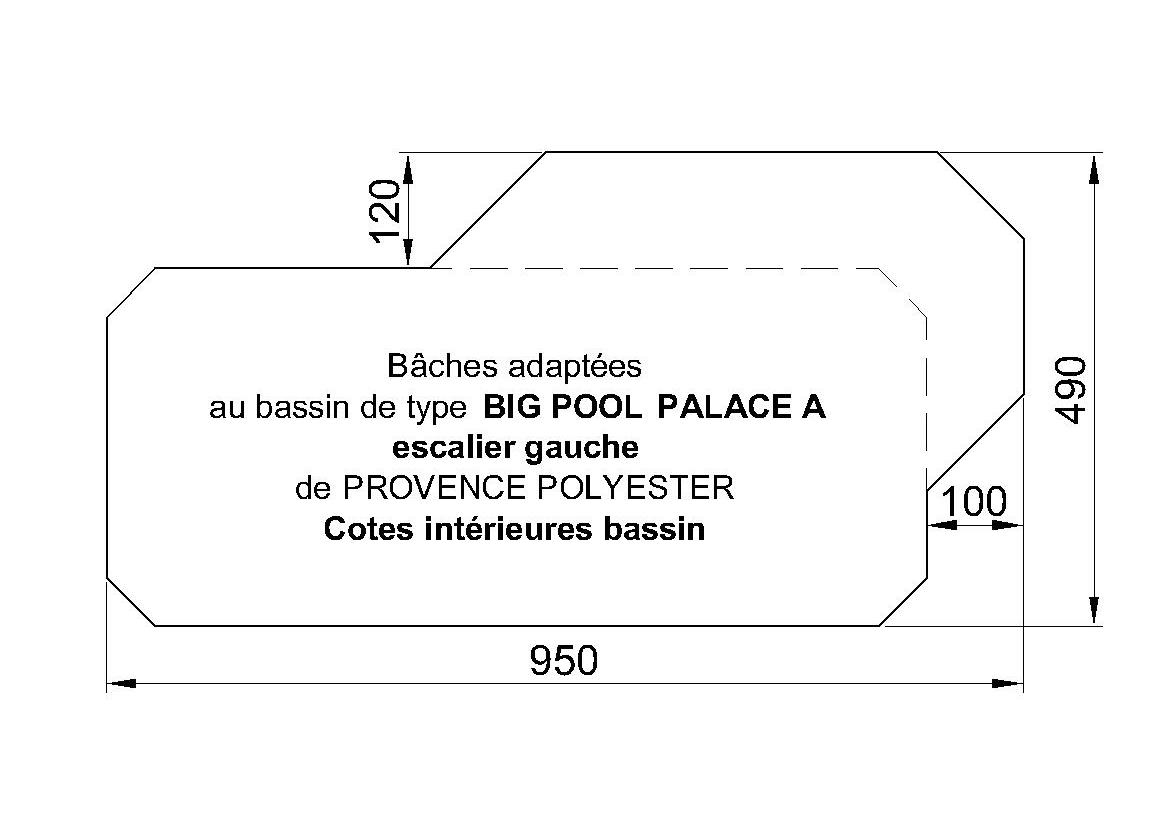 Bâches Adaptées Big-Pool Palace A Escalier à Gauche