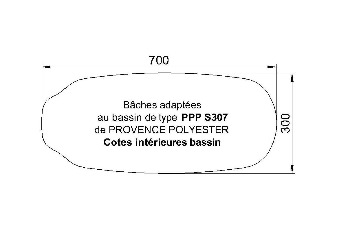 BACHE POUR s307 de chez Piscine Provence Polyester