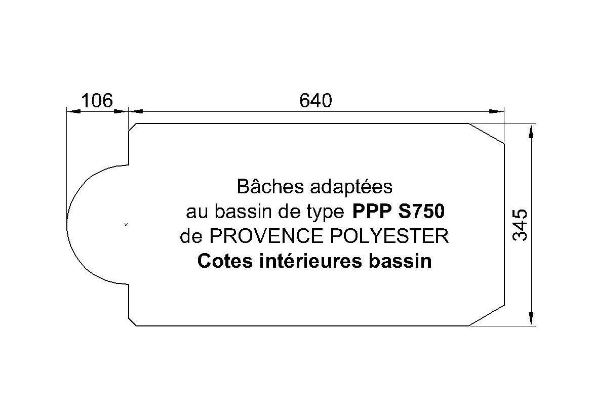 BACHE POUR S 750 de  Piscine Provence Polyester