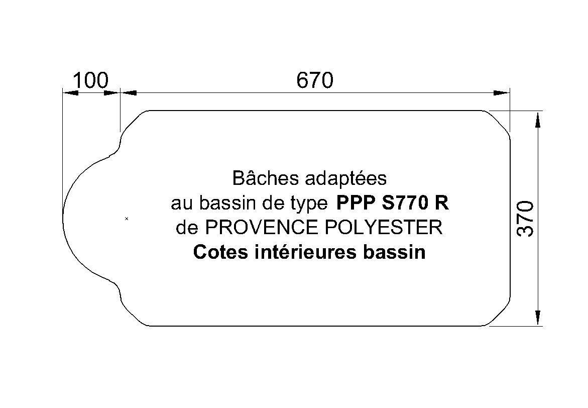 BACHE S770R de CHEZ Piscine Provence Polyester