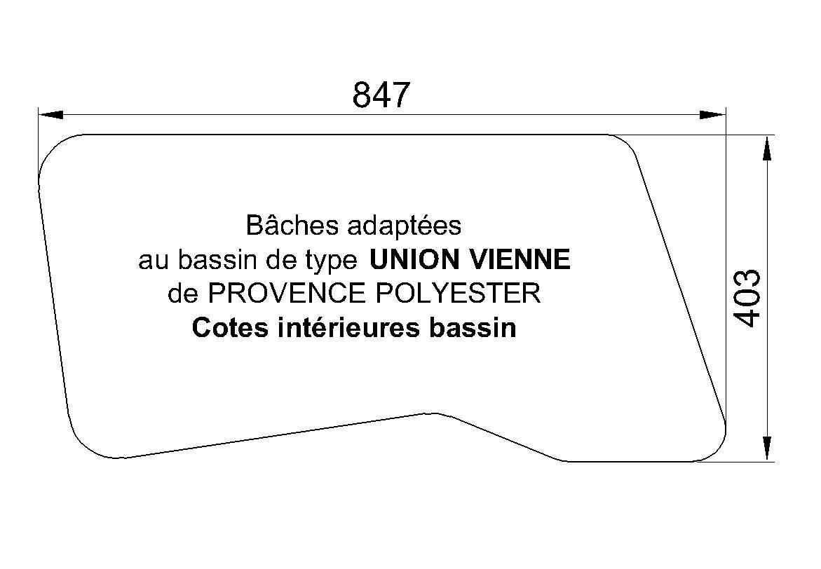 BACHE modèle Vienne de chez Union Piscine Provence Polyester