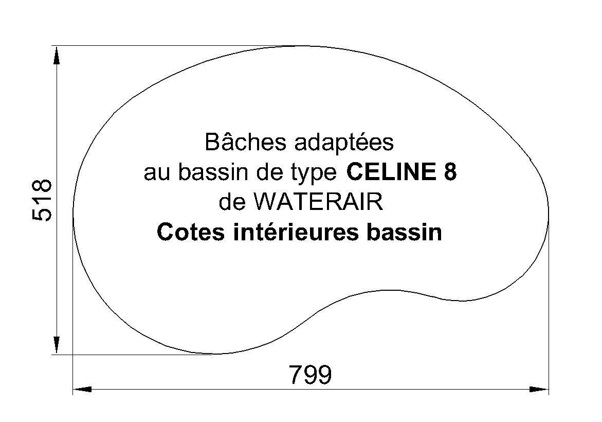 BACHE PISCINE celine 8 WATERAIR