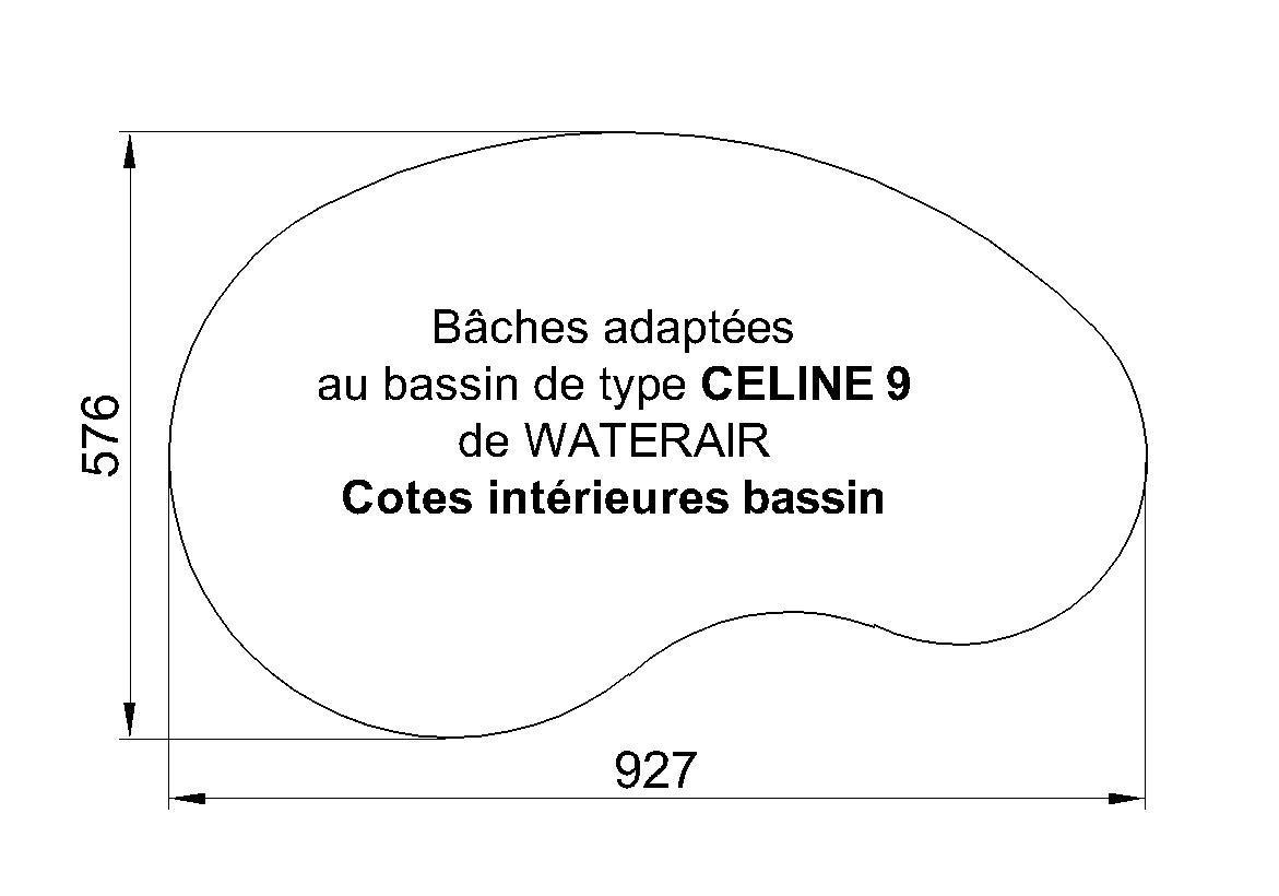 BACHE POUR PISCINE CELINE 9 WATERAIR