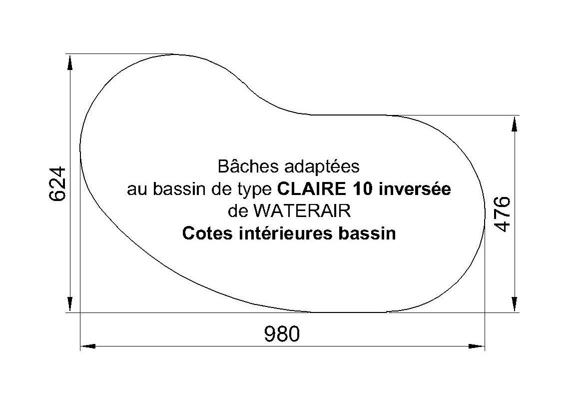 BACHE PISCINE claire 10 WATERAIR