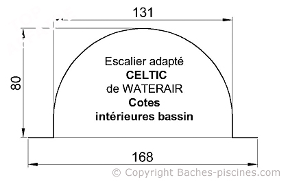 BACHE PISCINE WATERAIR ESCALIER CELTIC