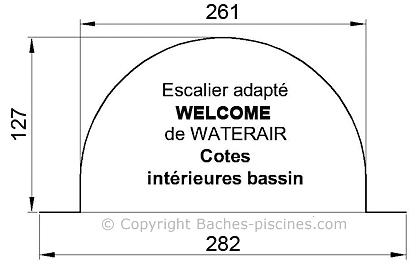 BACHE PISCINE WATERAIR ESCALIER welcome