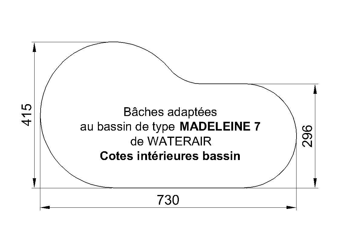 BACHE PISCINE MADELEINE 7 WATERAIR