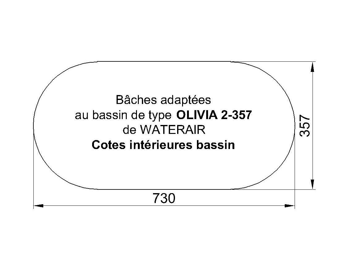 BACHE POUR PISCINE WATERAIR OLIVIA 2-357