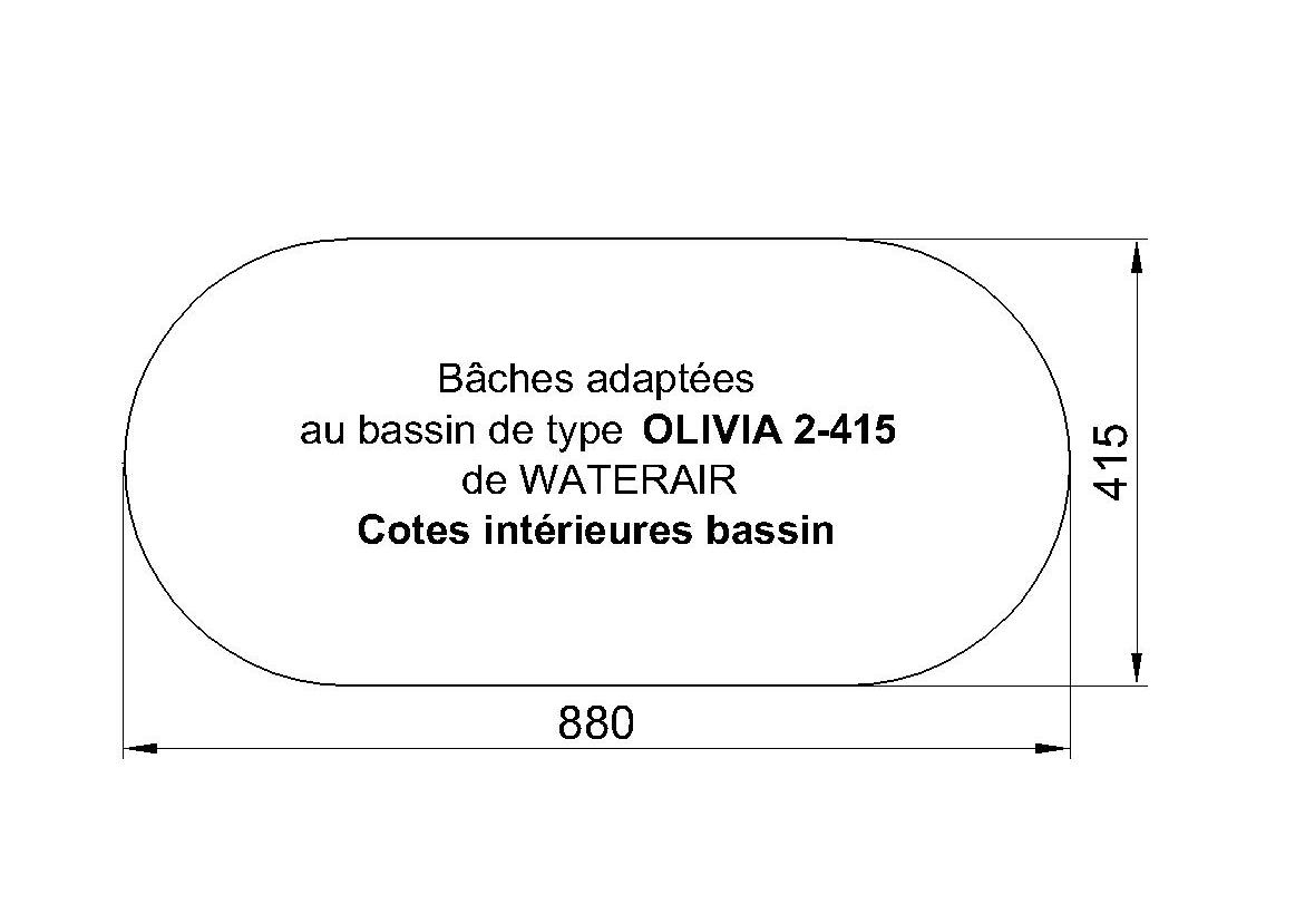 BACHE PISCINE OLIVIA 2-415 WATERAIR