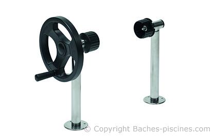 Pieds fixes haut enrouleur piscine for Piscine 24 pieds