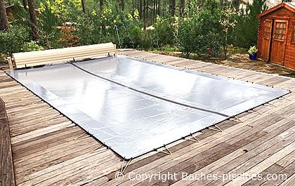 bache de piscine hivernage opaque couvertures piscines. Black Bedroom Furniture Sets. Home Design Ideas