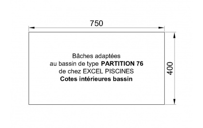 Partition 76 piscine Excell