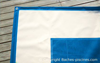 FILET COUVERTURE PISCINE BACHE BLEU