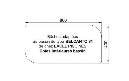 B ches adapt es belcanto 81 piscines excel for Bache piscine hiver