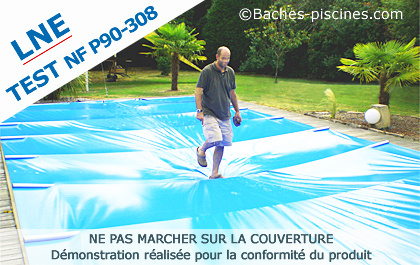 couverture à barre piscine