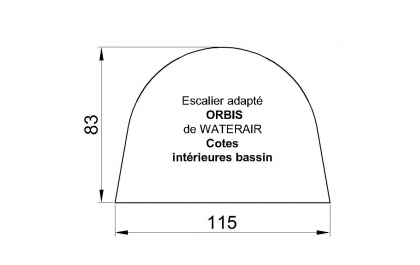 B che bulle piscine escalier orbis waterair for Bache ete piscine octogonale