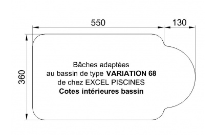 Variation 68 piscine Excell