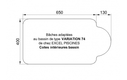 Variation 74 piscine Excell