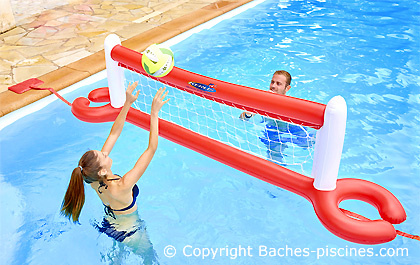 volleyball piscine flottant
