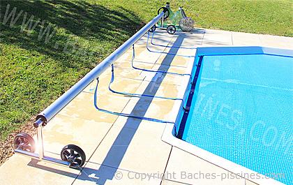 Enrouleur baches bulles de 4 5m for Fabrication enrouleur bache piscine