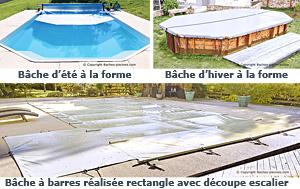 Couverture piscine à la forme ou adaptée à votre piscine