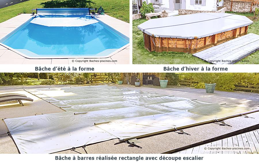 Bâche piscine à la forme ou adaptée à votre piscine