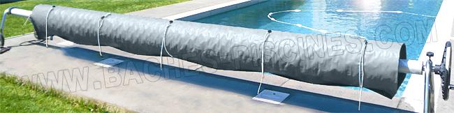 Protection bâche à bulles sur enrouleur