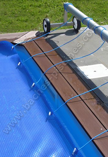 Attaches pour baches piscine enrouleur for Bache bulle piscine