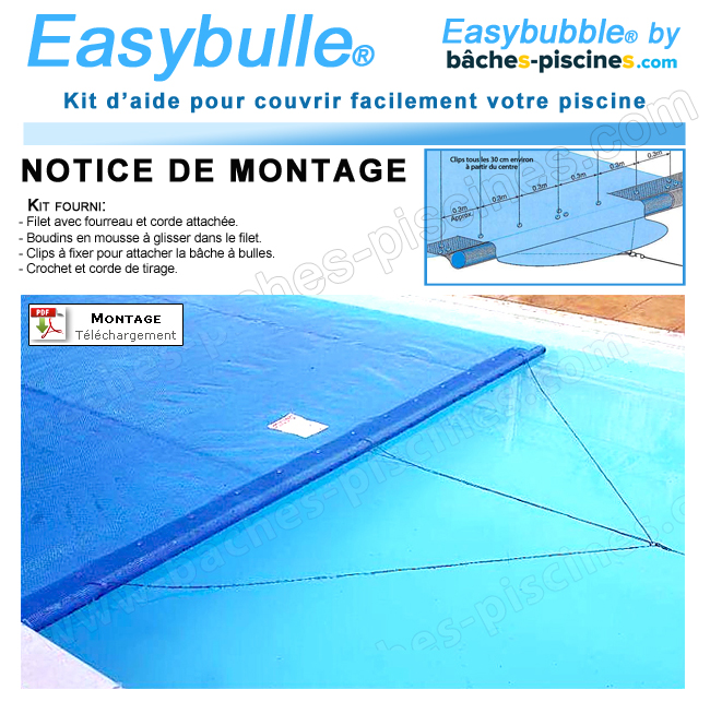 Tirer bache piscine easy bulle for Bache a bulle pour piscine enterree