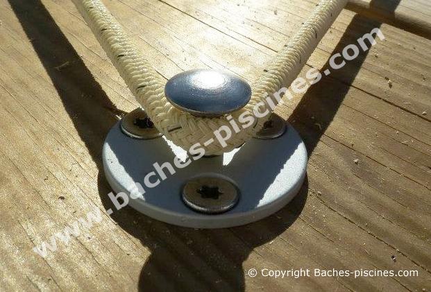 Descriptif du piton pour terrasse en bois Platine en Aluminium et