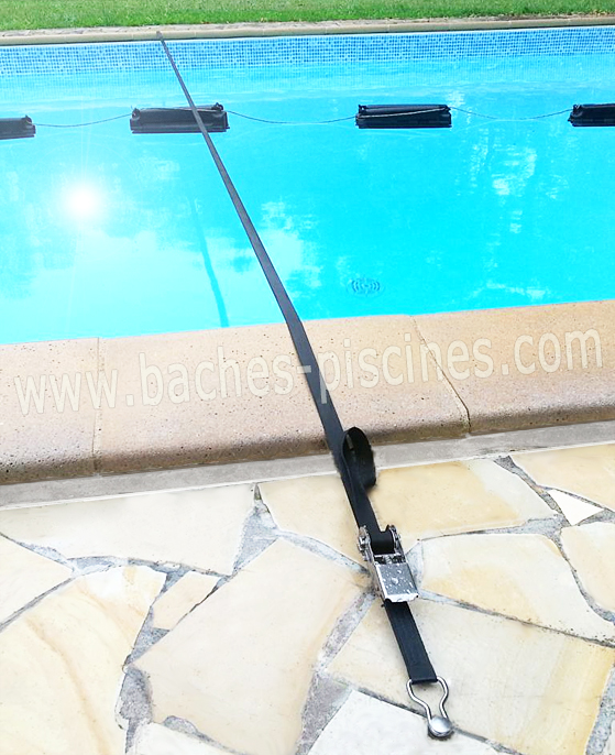 Sangle de soutien pour couverture d 39 hivernage piscine for Sangle pour bache a bulle piscine
