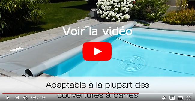 walu power vidéo enroulement couverture piscine